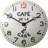 Convex Tin Café de la Gare Wall Clock