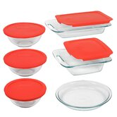 Easy Grab 11 Piece Bakeware Set with Plastic Cover