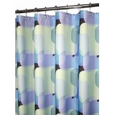 Dreamy Squares Shower Curtain in Blue