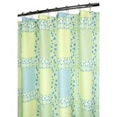 Tulip Patchwork Shower Curtain in Azure