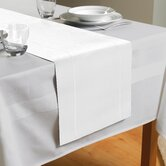 Hem Stitch Table Runner in White