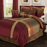 Iman Bedding Colleciton in Red / Gold