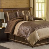 Metallic Animal 6 Piece Comforter Set in Brown / Gold