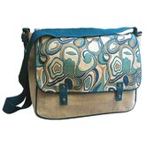 Natural Blue Harmony Messenger Bag