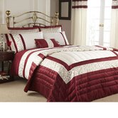 Scroll Duvet Cover Set in Red