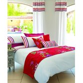 Auvergne Duvet Cover Set in White / Red