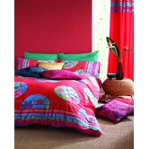 Hibiscus Duvet Cover Set in Brick