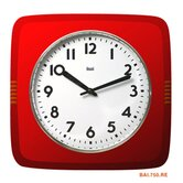 Square Retro Wall Clock in Red