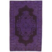 Khotan Patch Purple Floral Medallion Rug