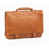 Tuscan Flap Briefcase in Tan
