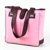 Colored Vachetta Small Open Tab Tote in Pink/Café
