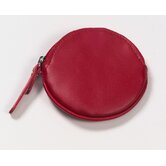 Round Coin Purse in Red