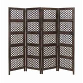 Loft Wood 4 Panel Screen