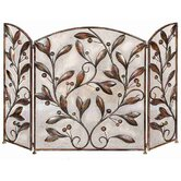 Urban Trends Decorative 3 Panel Metal Fireplace Screen