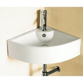"5.63""x18.3"" Corner Bathroom Vessel Sink"