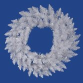 Crystal White Spruce 72&quot; Wreath
