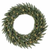"Camdon Fir 72"" Wreath with Clear Lights"