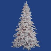 Flocked White Spruce 4.5' Artificial Christmas Tree with Multicolored LED Lights