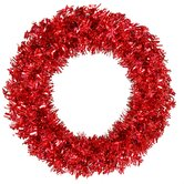 Red Wide Cut 60&quot; Wreath in Red