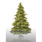 6.5' Prelit Country Pine Artificial Christmas Tree with Clear Lights