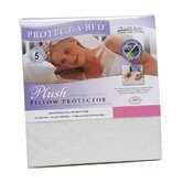 Plush Pillow Protector in White