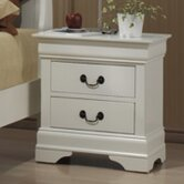 Zurich 2 Drawer Bedside Table