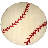 Fun Shape High Pile Baseball Sports Kids Rug