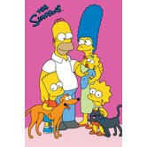 The Simpsons Loving Family Kids Rug