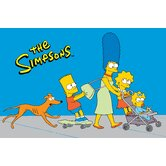 The Simpsons Walk N' Roll Blue Kids Rug