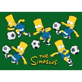 The Simpsons Soccer Fun Kids Rug