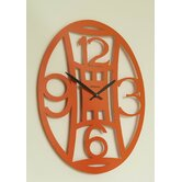 Meridiana Ovale Wall Clock in Orange