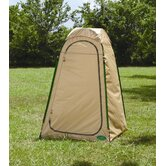 Hilo Hut Privacy Shelter in Tan / Hunter Green
