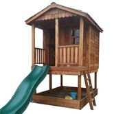 Sunflower Playhouse with Sandbox Set