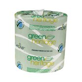 "Green Heritage Toilet 1"" Tissue, 2-Ply, 500/Roll"