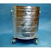 "Galvanized 11 Gallon Round Mop Bucket with 2"" Casters"