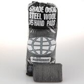 Industrial Quality Steel Wool Hand Pad, Extra Fine   16/Pack