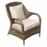 Sussex Lounge Armchair with Seat and Scatter Cushions in Mocha