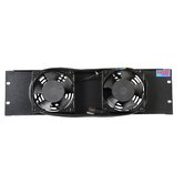 3U Vented Fan Panel and 2 Fans