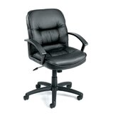 Mid-Back Leather Ergonomic Managerial Chair
