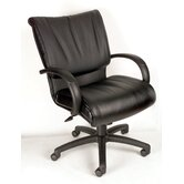 Modern Mid-Back Leather Executive Chair