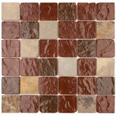 Elida Glass 12&quot; x 12&quot; Mosaic in Wine Pyramids