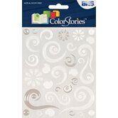 Colorstories Epoxy Swirl Stickers (Set of 63)