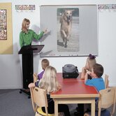 Projection Plus Multimedia Boards - Aluminum Trim 4' x 6'