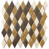 "Heritage 11-1/2"" x 12"" Ceramic Argyle Mosaic in Goldstone"