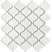 "Beacon 12-1/2"" x 12-1/2"" Porcelain Mosaic in White"