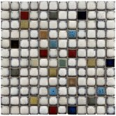 Essentia 12-1/2&quot; x 12-1/2&quot; Ceramic Square Mosaic in Cascade