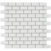 Retro 11-3/4&quot; x 11-3/4&quot; Porcelain Subway Mosaic in White