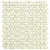"Posh 11-1/4"" x 12"" Penny Round Porcelain Mosaic Wall Tile in Almond"