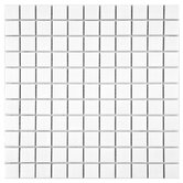 "Retro 11-3/4"" x 11-3/4"" Porcelain Square Mosaic in Matte White"