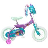 "Girls 12"" Dora Bike with Training Wheels"
